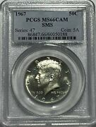 1967 P Pcgs Ms66 Cam Sms Clad Kennedy Half Dollar Jfk Coin 50c Special Mint Set