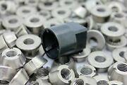 M8-1.25 T-groove Tamper Proof Security Nuts X 25 And Tool Socket Stainless Tri 8mm