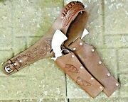 Brown Holster Set For Kids Full Leather Holster With Two 2 Cap Guns 70304