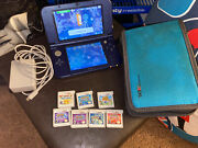 Nintendo 3ds Xl Console Galaxy Edition - Case, Charger And 7 Amazing Games Used