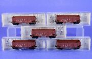 Lot Of 5 Micro Trains N Scale Atsf 33' Composite Side Twin Bay Hopper Cars 57010
