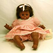 Vintage Madame Alexander African American Pussy Cat Baby Doll ,18 Pink Dress