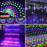 Led Icicle Net Curtain Fairy Lights Waterfall Garden Party Outdoor Xmas Party