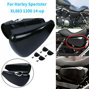 1 Pair Gloss Black Side Battery Covers For Harley Sportster Xl883 1200 2014-2021