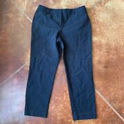 Liz Claiborne Pants Womenand039s 10 Career Trousers Emma Classic Straight Crop Blue