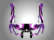 Can Am Hd10 Gloss Black-purple-pink-white 106 Decal Graphic Wrap