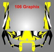 Can Am Hd10 Gloss Black-yellow-white 106 Decal Graphic Wrap