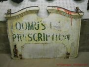 Early Hard To Find Coca-cola Colonial Porcelain 2 Sided Sign Drug Store Adv.