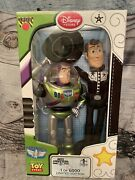 Disney Store Limited Edition 17'' •toy Story• Buzz Lightyear And Woody 1/6,000