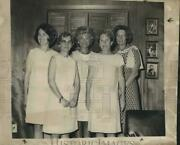 1969 Press Photo Newly Installed Officers Of The Fleur De Lis Garden Club