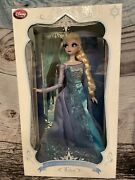 Disney Store Limited Edition 17and039and039 Andbullfrozenandbull Elsa Snow Queen New 1/2500