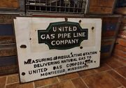 United Gas Pipeline Company Porcelain Sign Mississippi 31andldquo X 21andldquo