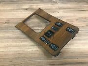 Mercedes Benz Oem W126 Se Sel Sec Front Center Console Wood Panel Switch 85-91 2