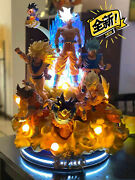 In Stock Rs Studio Dragonball-z Goku All Forms 17 Scale Led Light Resin Statue