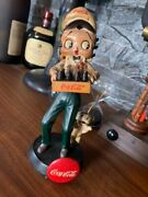Coca-cola Character Model Betty Boop Figure Size Height 20 Cm Width 6 Cmused
