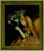 M.jane Doylehill Signed Orig.art Oil/canvas Painting Claire Portraitframed