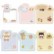 Qinnkjia Sticky Notes Cute Message Cards Colorful Animal Party Healing Memo
