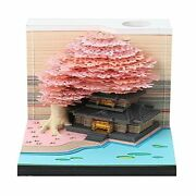 Wylsg 3d Note Paper Art Tree House Block Sticky Strips Home Decoration