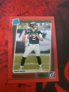 2021 Panini Donruss Football Zach Wilson Red Press Proof Rated Rookie Rc 252