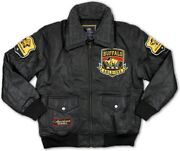 Big Boy Buffalo Soldiers Commemorative S3 Mens Leather Bomber Jacket