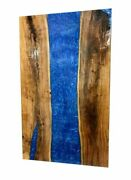 60 X 32 Epoxy Resin Wooden Center Table Top Home Decor Furniture