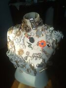 Huge Vintage Antique Costume Jewelry L Lot Brooches Bracelets Earrings Necklace