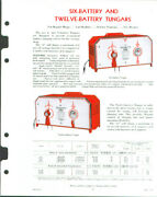 General Electric 6- And 12-battery Tungar Sell Sheet 1938