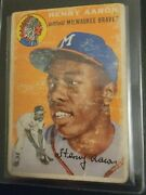 1954 Hank Aaron Henry Rookie Card Rc Topps Psa Beckett Auth Perfect Centering