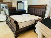 Classic Cal King Bed Set With Mattress Night Stands Dresser Chest Pickup