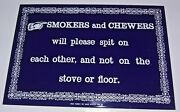 Ande Rooney Vintage Repro Enamel Signsmokers And Chewers. 8 1/2 X 5 3/4