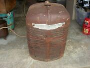 Vintage Farmall H Ih Tractor Nice Original Front Nose Cone Grill W/ Emblem