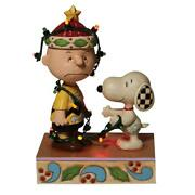 Jim Shore Snoopy And Charlie Brown Decoration Figure Pre Order