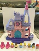 2012 Fisher Price Little People Disney Princess Castle Works With Figures