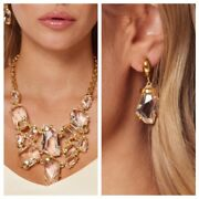 Kenneth Jay Lane Sex And The City Statement Bib Necklace And Earrings - Your Choice