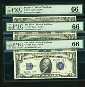 1934c 10 Silver Certificates Graded 66 Gem By Pmg 3 In A Row