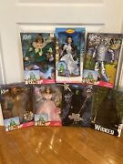 Wizard Of Oz Collector Limited Edition Barbie Dolls Lot Of 7. W/ Wicked Elphaba