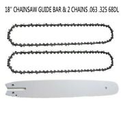 18 Chainsaw Guide Bar And 0.325 68dl Saw Chain For Stihl Ms210/ms230/ms250 251