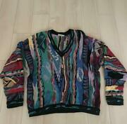 Vintage Coogi Cotton Knitted Sweater Size M Made In Australia Multicolor No.7841