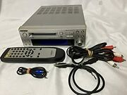 Onkyo Md105fx Hi-md Mini Disc Recorder Silver Audio Intec205 High Speed Used