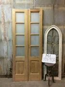 8 Pane French Glass Doors, Antique French Double Doors, Old Wood Doors, M11