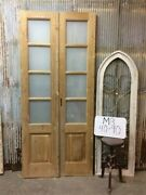 8 Pane French Glass Doors, Antique French Double Doors, Old Wood Doors, M8