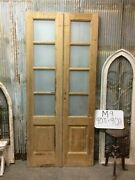 8 Pane French Glass Doors, Antique French Double Doors, Old Wood Doors, M9