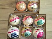 Lot 8 Vintage Mercury Glass Jumbo Pictured Girl Merry Christmas Ornaments Poland