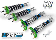 Fortune Auto Coilovers 510 Series 12k F - 6k R For 88-91 Civic 4 Ef Fa510cfd-ef