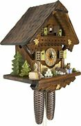 German Cuckoo Clock - Summer Meadow Chalet With 8-day-movement - 13 1/3