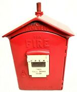 Vintage Gamewell Fire Station Alarm Call Box - With Internal Mechanism + Key