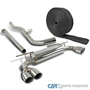 For 09-14 Genesis 2.0t Catback Exhaust Muffler System+black Pipe Wrap And S/s Ties