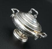 Rare Miniature Sterling Silver Soup Tureen Dollhouse 112 Obadiah Fisher Co778