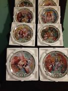 Complete Set Of 8 Bradford Exchange The Wizard Of Oz Musical Plates