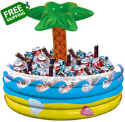 Palm Tree Oasis Inflatable Party Cooler - 14 X 29.5 | 1 Pc.